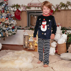 Pyjama en velours esprit Noël et pantalon à rayures , Orchestra