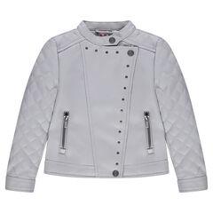 Junior - Perfecto imitation cuir avec zips et croisillons