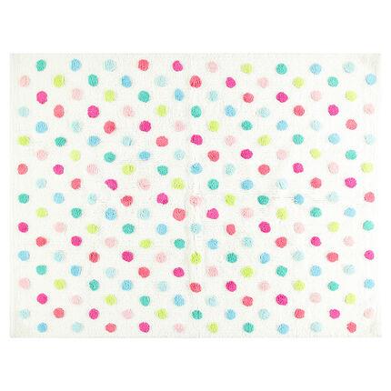 Tapis en coton à pois multicolores