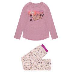 Junior - Pyjama en jersey avec haut printé et bas imprimé all-over
