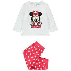 Pyjama en velours broderie Minnie Disney à pois pour bébé fille , Orchestra