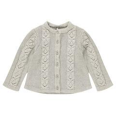 Gilet en tricot avec jeu de torsades