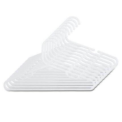 Lot de 10 cintres en plastique - Blanc