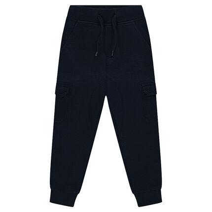 Pantalon de jogging en molleton surteint avec poches