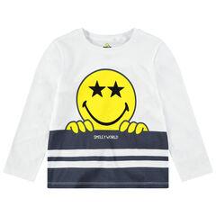 Tee-shirt manches longues en jersey avec print ©Smiley