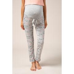 Pantalon de grossesse homewear à inscriptions printées all-over