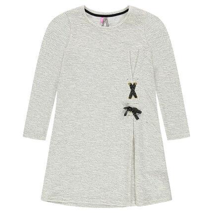 Junior - Robe manches longues en maille mélangée avec laçage