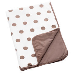 Couverture Dream Cotton Dots - Taupe