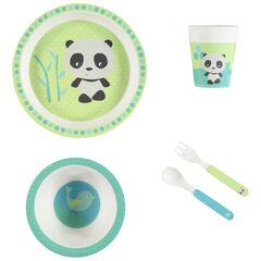 Set repas Panda en Bamboo - 5pcs