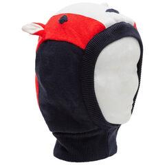 Cagoule en tricot tête de renard avec oreilles en relief et détails brodés