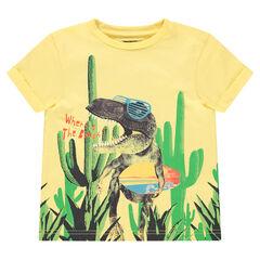 Tee-shirt manches courtes avec dinosaure printé