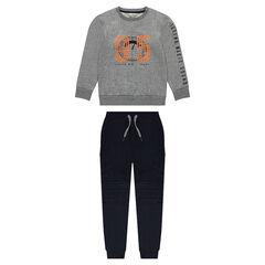 Junior - Jogging en molleton avec pantalon à poches et sweat printé