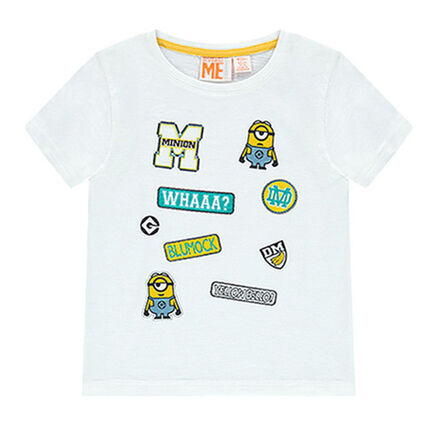 Tee-shirt manches courtes badges Les Minions