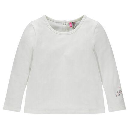 Tee-shirt manches longues avec print bas de manche