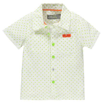 Chemise manches courtes imprimée étoiles avec poches