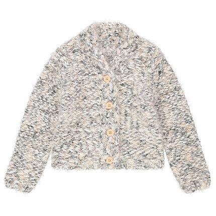 Gilet en tricot pop-corn effet poil
