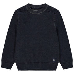 Pull en tricot effet used