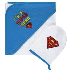Set de bain avec gant de toilette ©Warner Superman