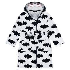 Peignoir print ©Warner Batman all-over et capuche à masque intégré