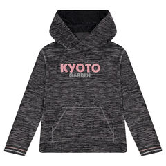 Junior - Sweat à capuche en tricot fin avec textes printés ea9e0e67b812