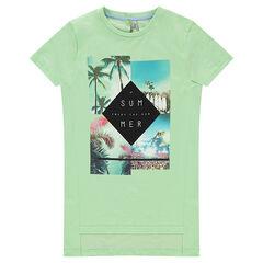 Junior - Tee-shirt long manches courtes avec paysages printés