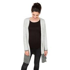 Gilet de grossesse long en tricot fantaisie