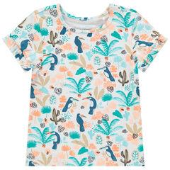 T-shirt manches courtes imprimé jungle all-over , Orchestra