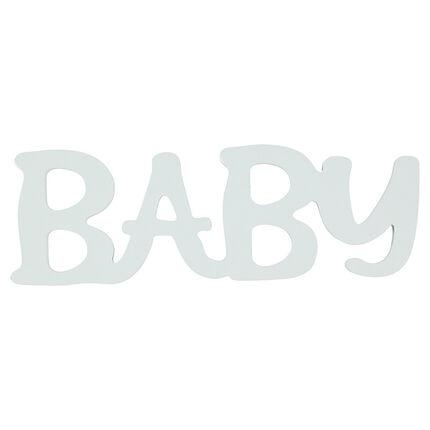 """Mot """"BABY"""" en bois peint"""
