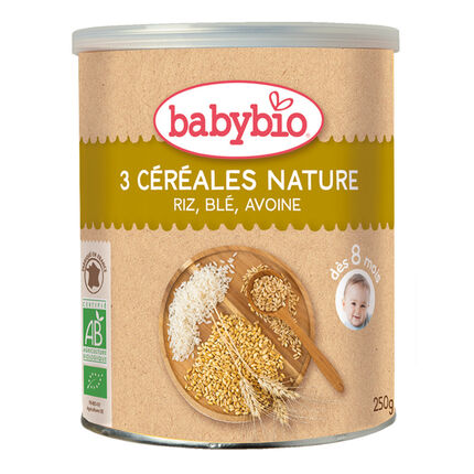 Mélange 3 céréales infantiles bio nature - 250g