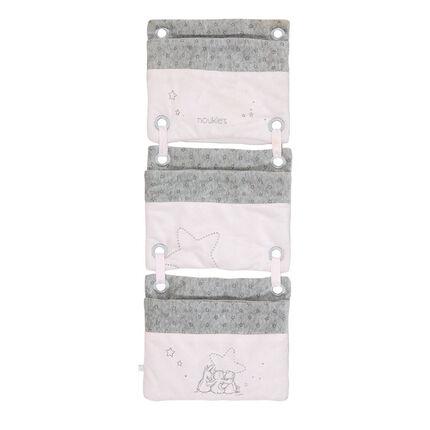Poches de lit poudre etoiles rose