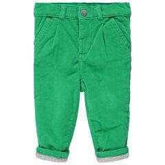 Pantalon en velours doublure jersey