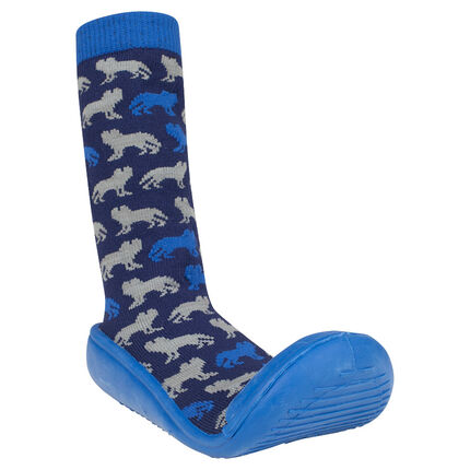Chaussons chaussettes motif animal