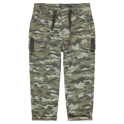 Pantalon à poches style cargo avec motif army all-over