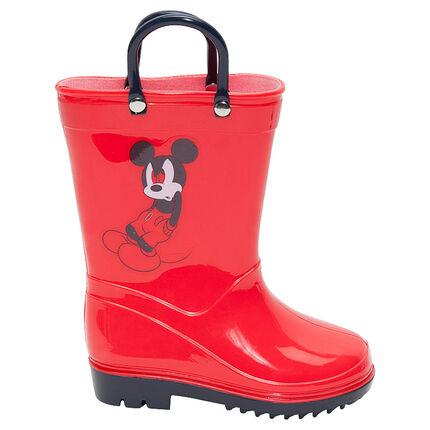 Bottes de pluie en caoutchouc avec anses Disney Mickey