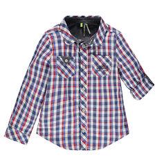 Chemise manches longues à carreaux avec 2 poches