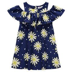 52d763a90295e Robe à épaules ajourées avec fleurs imprimées ...