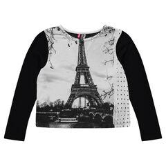 Tee-shirt manches longues print Paris