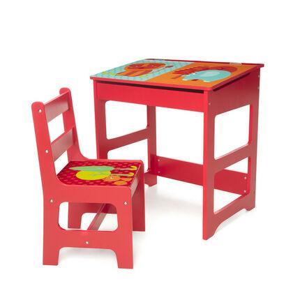 Set pupitre et chaise Jungle
