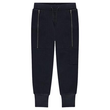 Junior - Pantalon de jogging en molleton avec zips fantaisie et inscriptions printées