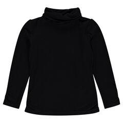 Sous-pull en jersey slub à col roulé