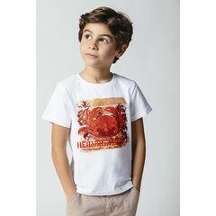 T-shirt manches courtes en coton bio à imprimé fantaisie , Orchestra