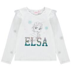 T-shirt manches longues en jersey print Elsa Reine des neiges Disney