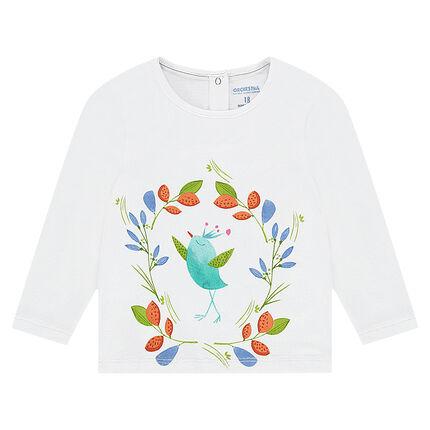 Tee-shirt manches longues en jersey avec print coloré