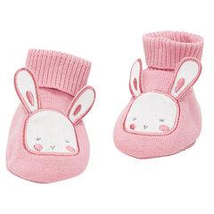 Chaussons en tricot motif lapin