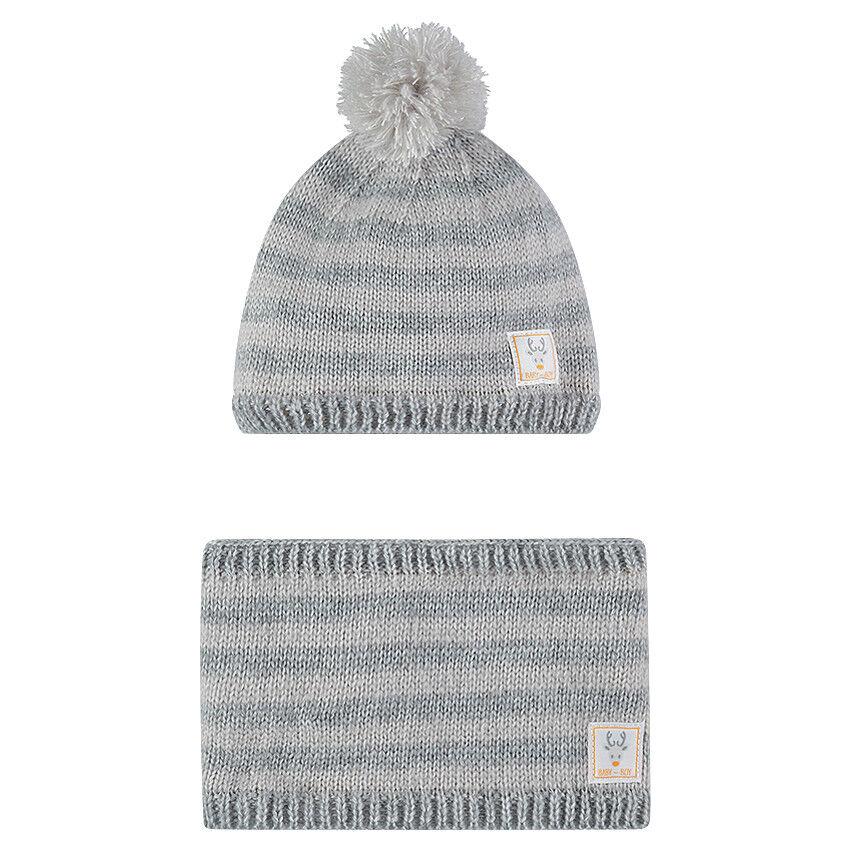 Ensemble bonnet et snood en tricot doublés micropolaire