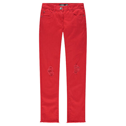 Junior - Pantalon skinny uni effet used