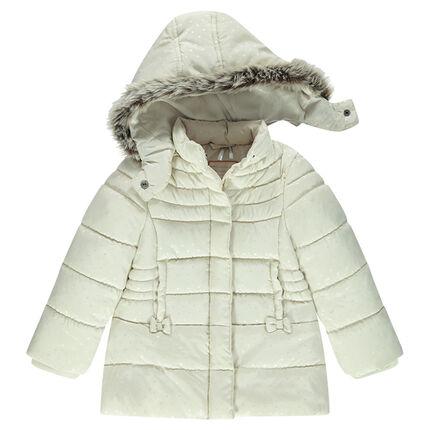 Doudoune matelassée à capuche amovible doublée sherpa