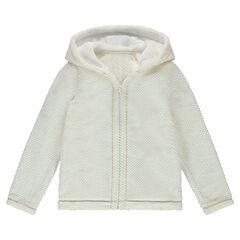 Junior - Gilet à capuche en sherpa zippé style robe de chambre