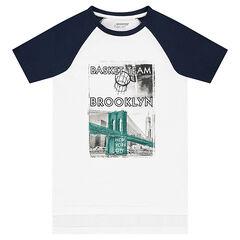 Junior - Tee-shirt manches courtes raglan avec print fantaisie