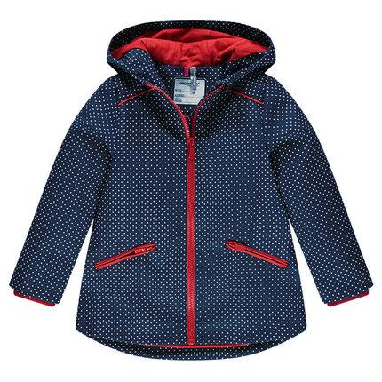 Coupe-vent à pois imperméable à capuche doublée jersey